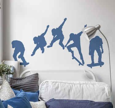 vinis decorativos desporto decoração para o seu espaço na parede. Este design é lindo e inspirador para os adolescentes que amam patinar e seria um ponto de motivação.