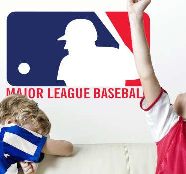 Distintivo Adhesivo de las Major League Baseball, son las ligas de béisbol profesional de mayor nivel del mundo. Batea fuerte la pelota si te gusta este deporte.