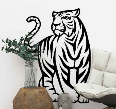 Un sticker animal sauvage tigre pour décorer votre maison. Le design est personnalisable dans différentes options de couleurs et de tailles.
