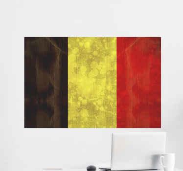 Représentez la Belgique dans votre maison avec ce sticker drapeau belge vintage. Il est disponible dans toutes les tailles requises.