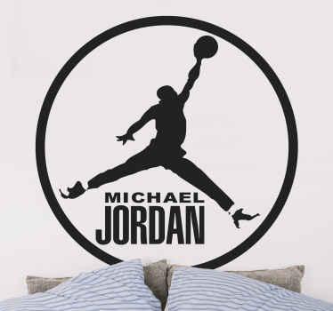 Air Jordan, Adhesivo circular del famoso jugador de baloncesto estadounidense. En este deporte, esta considerado el mejor jugador de todos los tiempos.