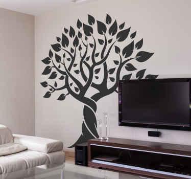 Um vinis decorativos de árvore de silhueta simples que apresentaria uma sala de estar com uma aura e aparência encantadoras. Está disponível em cores diferentes.