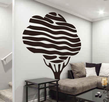 Decorative tree wall art sticker for home and office space.   You can have it in any one of the colours we have in our catalog.