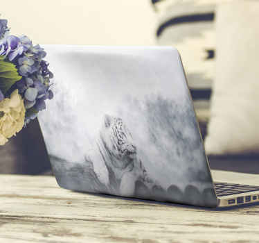 Let your laptop stand out anywhere with our tiger animal laptop featured in a snow environment. It is available in any size.