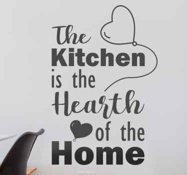 """Vinilo frase para cocina para embellecer ese espacio con un dicho popular que dice """"la cocina es el corazón del hogar"""" ¡Envío a domicilio!"""