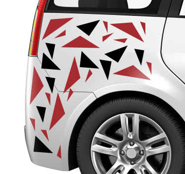 Decorate the surface of your vehicle in a modern and fun way with our geometric shape sticker of different colours. It is easy to apply.