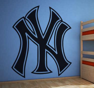 Stickers décoratif représentant le logo des New York Yankees. La plus grande équipe de base-ball américain. Si vous êtes un fan alors sélectionnez les dimensions de votre choix pour personnaliser le stickers à votre convenance.