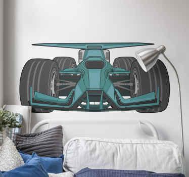 Pegatina de coche de automóvil de un automóvil bolide. Fácil de aplicar, autoadhesivo y disponible en diferentes tamaños ¡Envío a domicilio!
