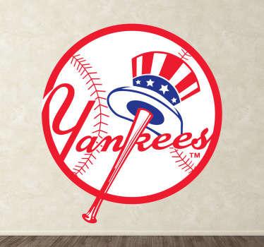 """Símbolo Adhesivo de """"Los Bombarderos del Bronx"""", conocido equipo de béisbol americano con sede en Nueva York. Para hinchas de este deporte."""