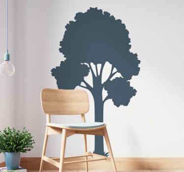 影のスタイルでデザインされた装飾的な壁アートステッカー。さまざまな色とサイズのオプションが用意されています。それは簡単です。
