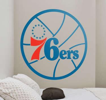 Naklejka dekoracyjna Philadelphia 76ers