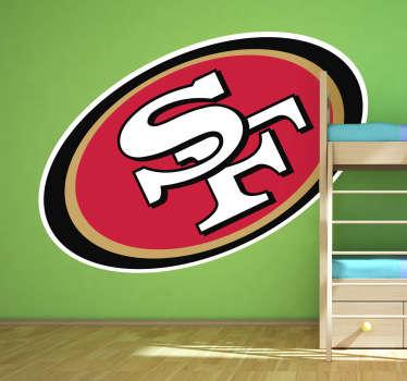 Naklejka dekoracyjna San Francisco 49ers