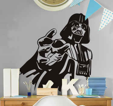 A star wars character personality vinyl decal design of Darth Vader. It is available in different colour and size options.