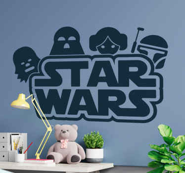 Decorative Hollywood vinyl decal featured withstar wars character.  It is easy to apply and made of high quality. It is available in any  size.