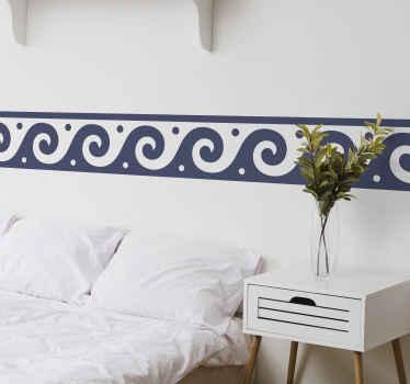 Adesivo decorativo bordo con un elegante design greco. Questo design è davvero sorprendente e sarebbe bello e di classe in qualsiasi spazio.