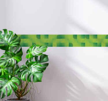 Cenefa decorativa con efecto de fondo verde con cuadrados para decorar cualquier estancia. Elige tamaño ¡Envío a domicilio!