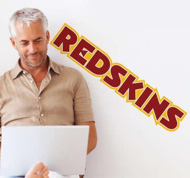Sticker decorativo con l'emblema della nota squadra di football americano, facente parte della NFL: i Redskins.