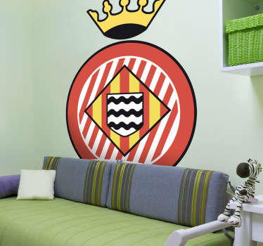 Escudo Adhesivo del club de fútbol catalán de la ciudad de Girona. Estupendo vinilo para los amantes del deporte y de la Liga Española.