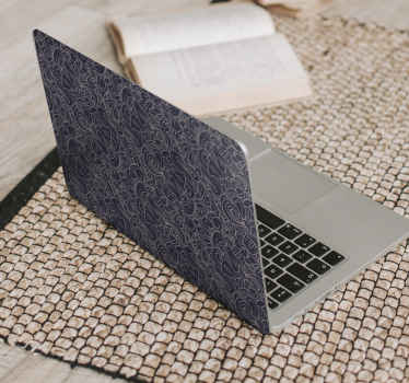 Abstract ornamental paisley laptop sticker suitable for every laptop. It is available in any required size and it application is very easy.