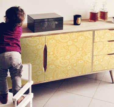 キャビネット、ワードローブ、引き出しなど、あらゆる家具スペースの装飾的な装飾用ペイズリー家具デカール。それはあらゆる次元で利用可能です。