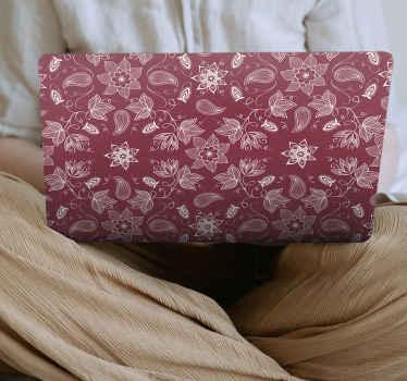 Un fantástico vinil laptop para cubrir toda la superficie de tu ordenador con este diseño de flores paisley vintage ¡Envío a domicilio!