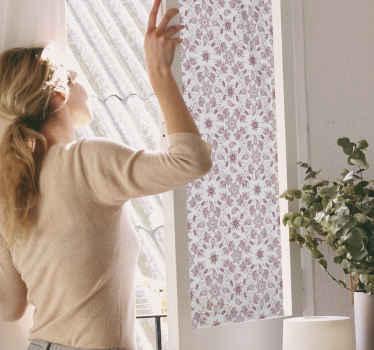 Prachtige paisley bloemenprints sticker voor uw raamruimte. Het is gemaakt van hoogwaardig vinyl en de applicatie is eenvoudig. Het kan op maat worden gemaakt.