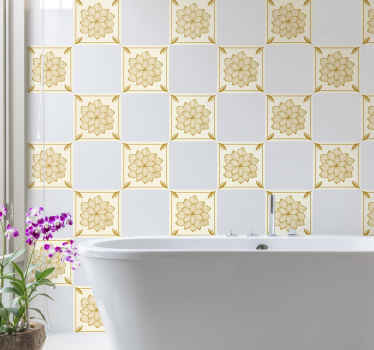 Beautiful stylish wall tile to create an amazing decorative space for bathroom or kitchen. It is easy to apply and resistant to wrinkle effect.