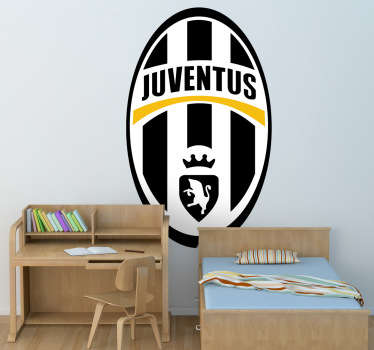A sports decal illustrating the emblem of the famous Italian football team, Juventus FC. A fantastic football sticker for those Juve supporters.