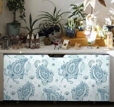 Papel adhesivo para forrar muebles para cualquier muebles de tu casa. Diseño floral azul totalmente adhesivo ¡Envío a domicilio!