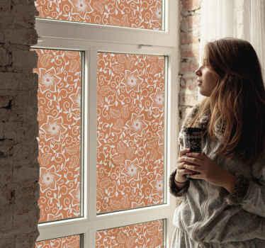 Sticker fenêtre fleurs paisley pour la décoration de votre maison et de votre bureau.  Il est fabriqué avec des matériaux de haute qualité et très facile à appliquer.