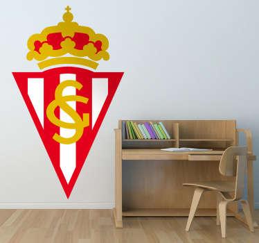 Escudo Adhesivo del Sporting de Gijón, club de fútbol del Principado de Asturias, equipo de la Liga española. Estupendo vinilo para los amantes del deporte.