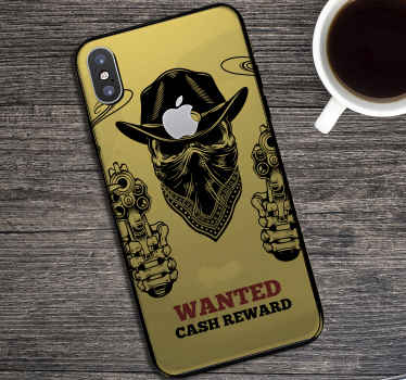 Beautiful iconic huawei phone decal with a cowboy featured design . It is self adhesive, easy to apply and made with high quality vinyl.