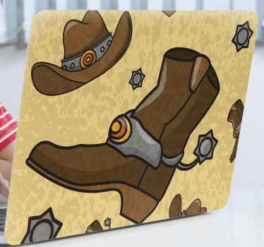 ¿Te gusta la personalidad del vaquero? En caso afirmativo, te encantaría nuestro vinilo para laptop es para ti ¡Envío a domicilio!
