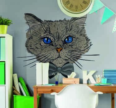 Schattige en realistische katten muursticker om uw muur ruimte in huis of elke gewenste ruimte te versieren. Het is gemaakt van hoogwaardig vinyl.