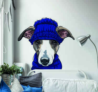 Cute and realistic dog wall sticker to decorate your wall space in the home or any space of choice. The product is made with high quality vinyl.