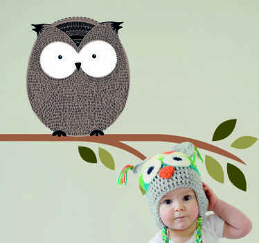 Beautiful animal wall sticker for kids. The design is an owl on a tree and it would be an amazing site for any kid. The product is of high quality.