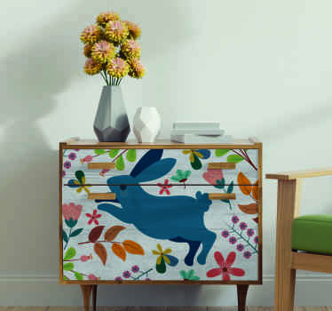 Beautiful decorativetenango flower and rabbit design for furniture. The product is made of high quality and it is easy to apply.