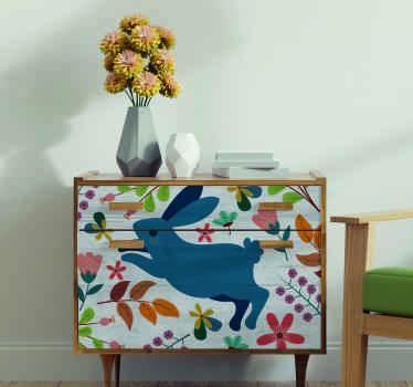 家具用の美しい装飾的なテナンゴの花とウサギのデザイン。製品は高品質で、適用が簡単です。