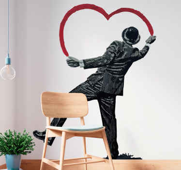 A banksy graffiti urban wall art decal design for lovers of urban street art . It is self adhesive and very easy to apply on any flat surface.