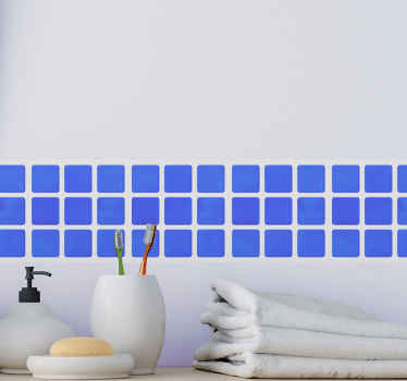 casa de banhoplaca de sombra azul autocolante decorativo produtode autocolante para embelezar o espaço de uma forma simples e adorável. é fácil de aplicar e de grande qualidade.