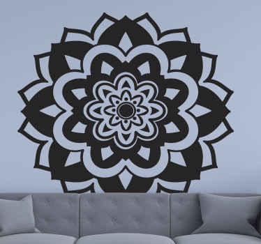 Decorative mandala ornamental flower sticker design available in various colours and size option. It is original and made from high quality vinyl.