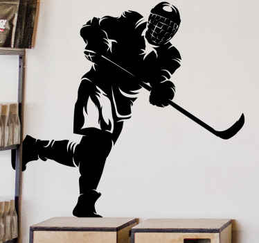Decorative hockey player sport wall art sticker for teens room decoration. It is easy to apply and of great quality. Add to cart.