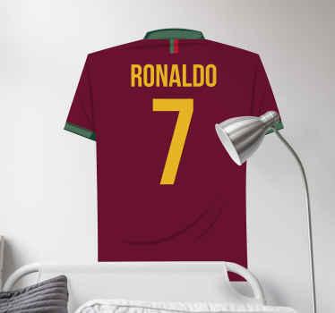 十代の若者たちと子供たちの寝室とゲームスペースを飾るためにカスタマイズされたサッカー選手のシャツの壁のステッカーのアイデア。適用が簡単で質が高い。