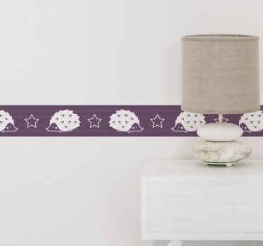 autocolante decorativo de borda de porco-espinho simples para formar uma linda moldura ao longo de qualquer espaço de parede. é fácil de aplicar e está disponível em qualquer tamanho necessário.
