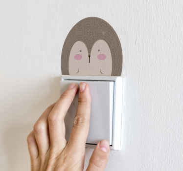 Porcupine drawing light switch decal features with the drawing of a porcupine. It is available in any size required, made of high quality.