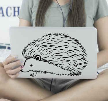 Vinil para laptop con dibujo de puercoespín para que decores tu portátil de forma original y exclusiva. Elige medidas ¡Envío a domicilio!