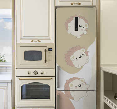 Best of quality appliance vinyl decals design of  cute porcupines. It is really easy to apply and available in any required size.