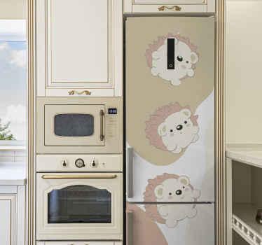 Décorez votre frigo avec ce superbe sticker hérisson. Un sticker frigo vraiment facile à appliquer et disponible dans toutes les tailles requises.
