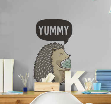 Have you ever seen porcupine eating ice cream? Here is a picture design of what it looks like. Easy to apply and made from high quality vinyl.