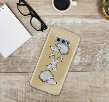 Samsung phone sticker design of porcupine and rabbit design on a lovely background. It is self adhesive and of high quality vinyl.